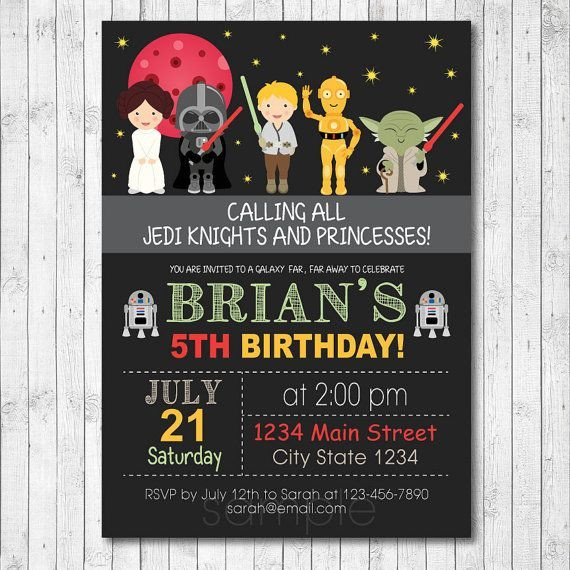 Star Wars Invitation Templates Free Star Wars Birthday Invitations – Bagvania Free