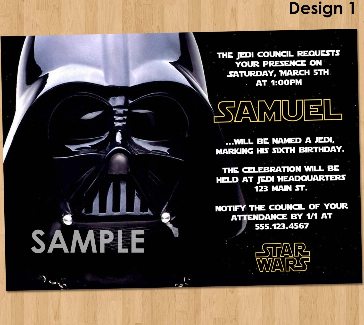 Star Wars Invitation Templates Free Star Wars Birthday Invitations – Free Printable