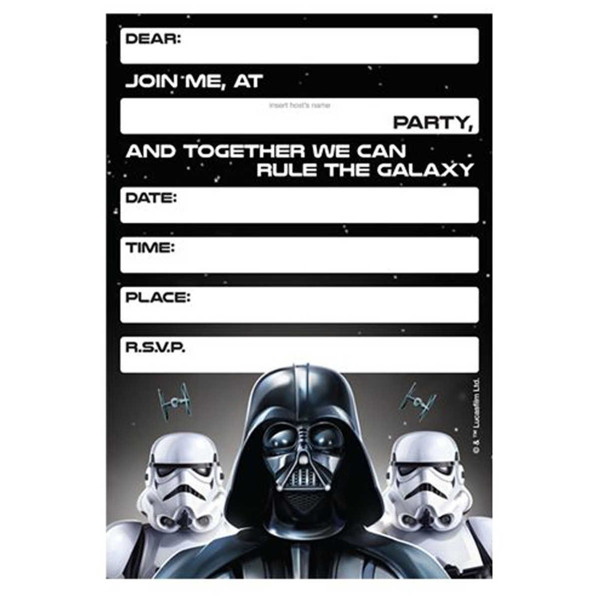 Star Wars Invitation Templates Lego Star Wars Birthday Invitations Template – Bagvania