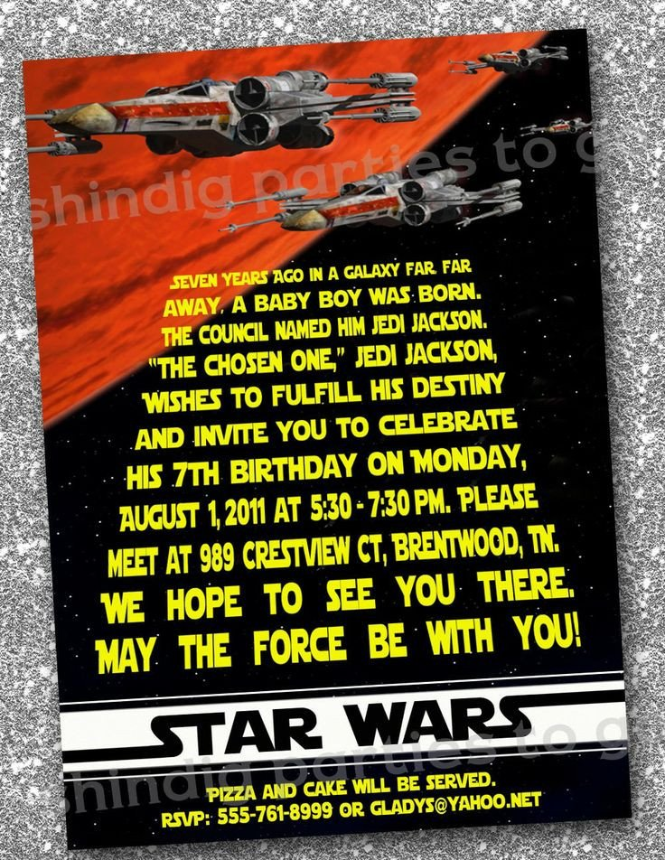 Star Wars Invitation Templates Star Wars Birthday Invitations Templates Free