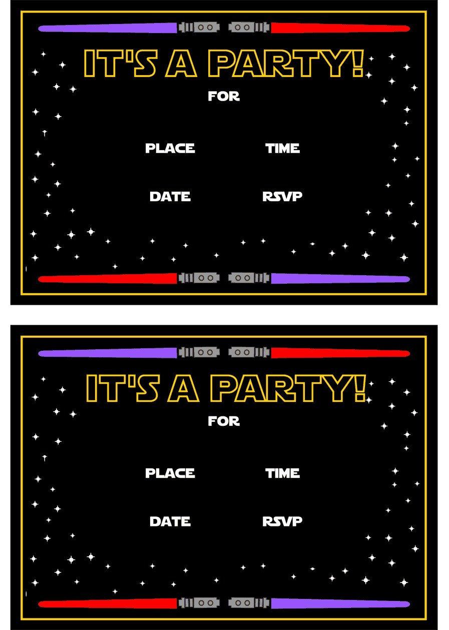 Star Wars Invitation Templates Star Wars Free Printables