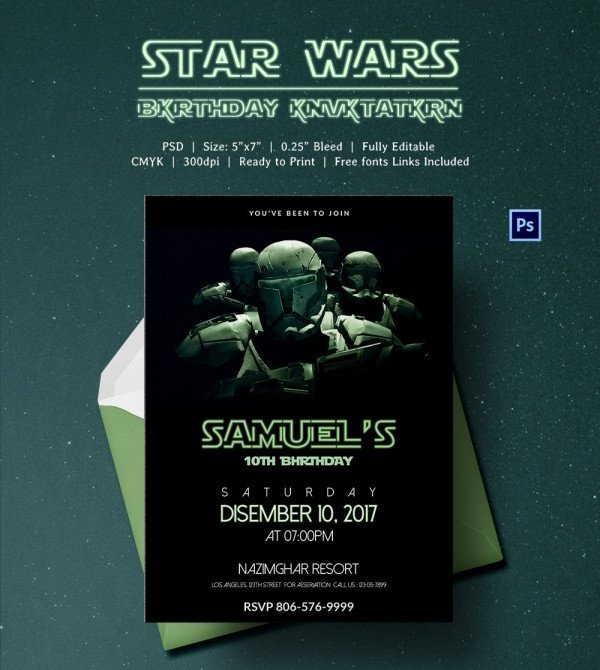 Star Wars Invitations Template 23 Star Wars Birthday Invitation Templates – Free Sample