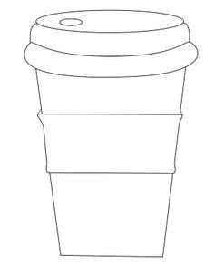 "Starbucks Sleeve Template Coffee Cup with Sleeve Use ""circle Words"" to Decorate"