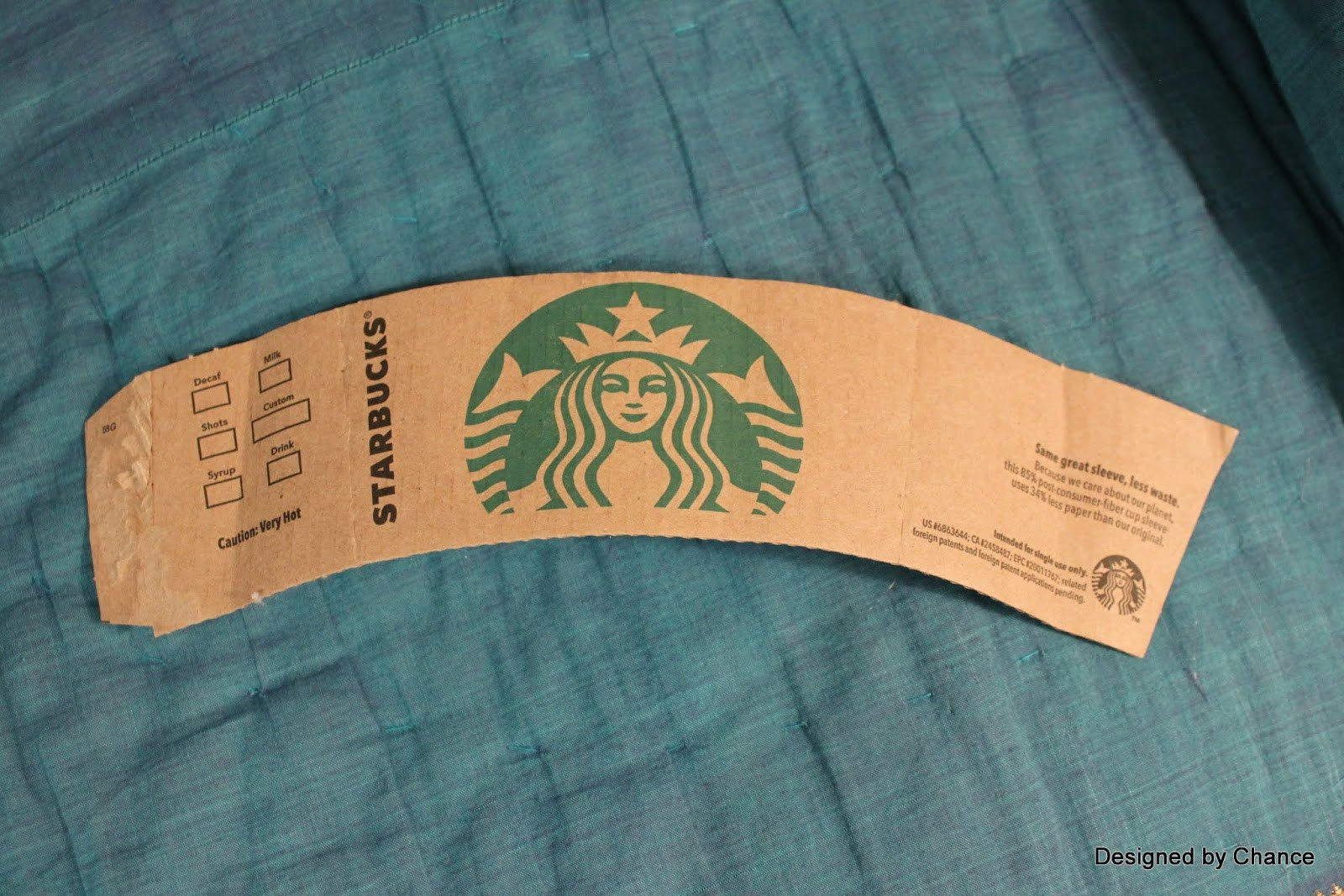 Starbucks Sleeve Template Designed by Chance