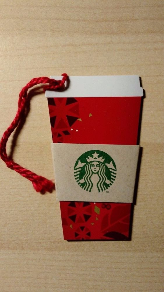 Starbucks Sleeve Template Starbucks 2013 Christmas Mini Red Cup Gift Card Die Cut