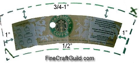 Starbucks Sleeve Template Starbucks Coffee Cup Sleeve Template