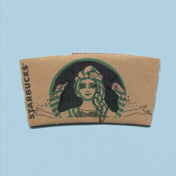 Starbucks Sleeve Template This Instagrammer Turns Starbucks Coffee Sleeves Into Art