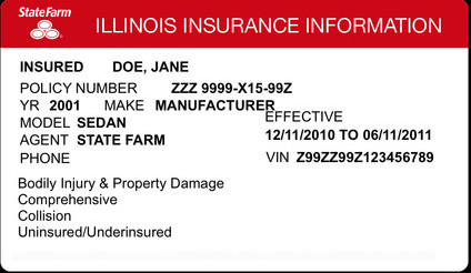 State Farm Insurance Card Template 16 Of Illinois Car Insurance Template
