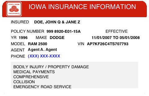 State Farm Insurance Card Template 24 Of Template Proof Renters Insurance