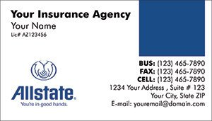 State Farm Insurance Card Template Allstate Insurance Business Cards Mind2print Full Color