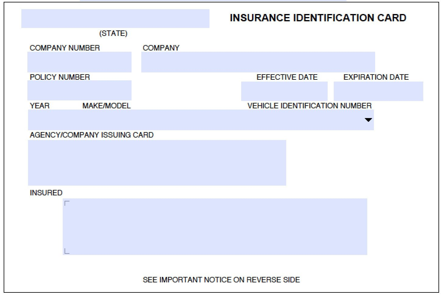 State Farm Insurance Card Template Download Auto Insurance Card Template Wikidownload