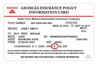State Farm Insurance Card Template Rental Car Services & Reimbursement – State Farm