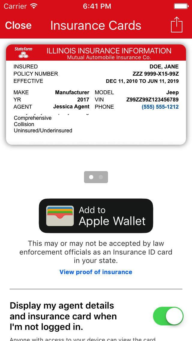 State Farm Insurance Card Template State Farm Id Card