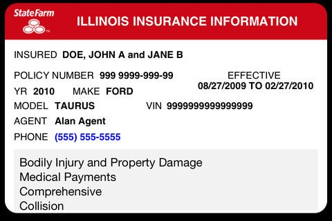 State Farm Insurance Card Template State Farm Vehicle Insurance