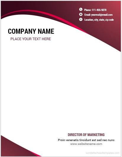 Stationery Template for Word 10 Best Letterhead Templates Word 2007 format