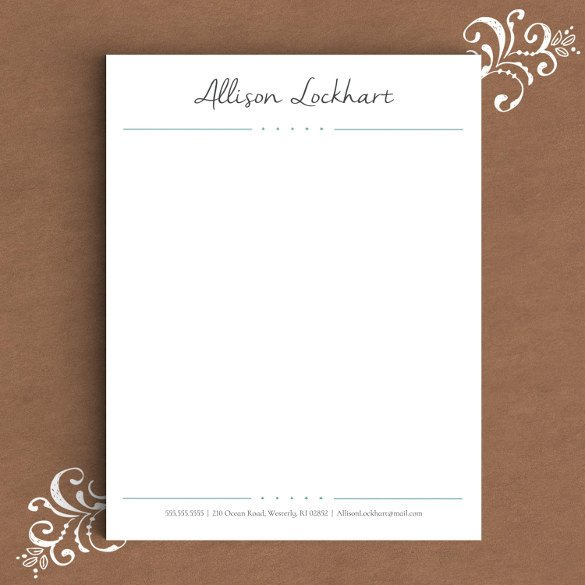 Stationery Template for Word 26 Letterhead Templates Pdf Word Ai Eps