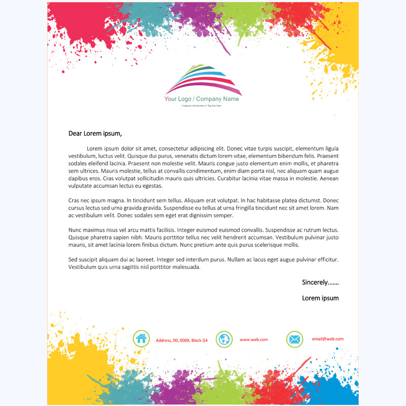 Stationery Template for Word Letterhead Template 12 Word Layouts