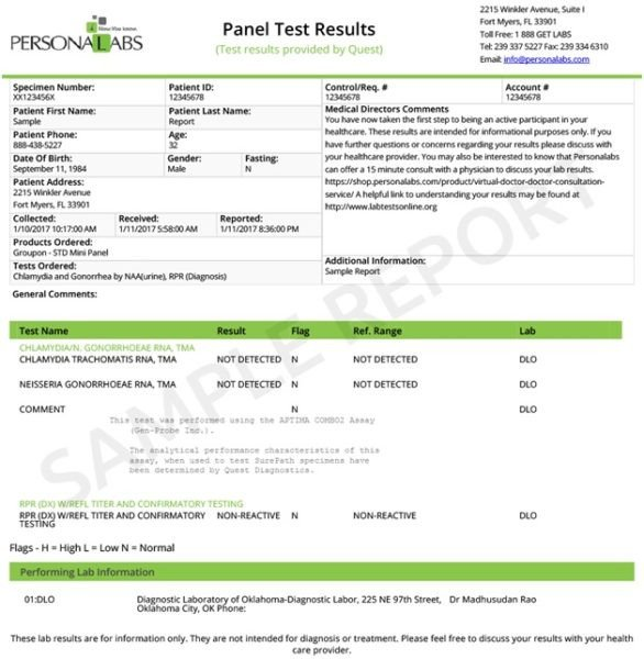 Std Results form Pdf Negative Std Test Results Pdf Download