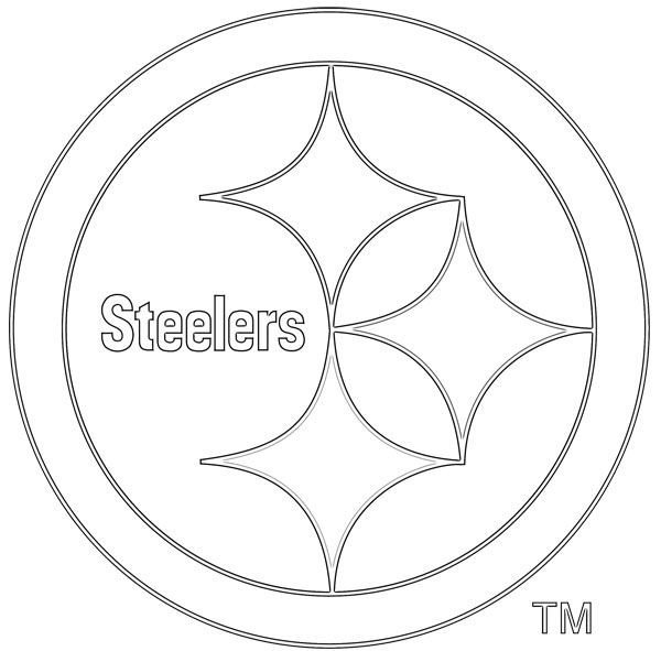 Steeler Pumpkin Stencil Kids Coloring Pages Steelers Stuff Pinterest