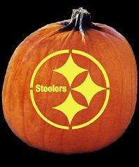 Steeler Pumpkin Stencil Spookmaster Nfl Football Pittsburgh Steelers Pumpkin