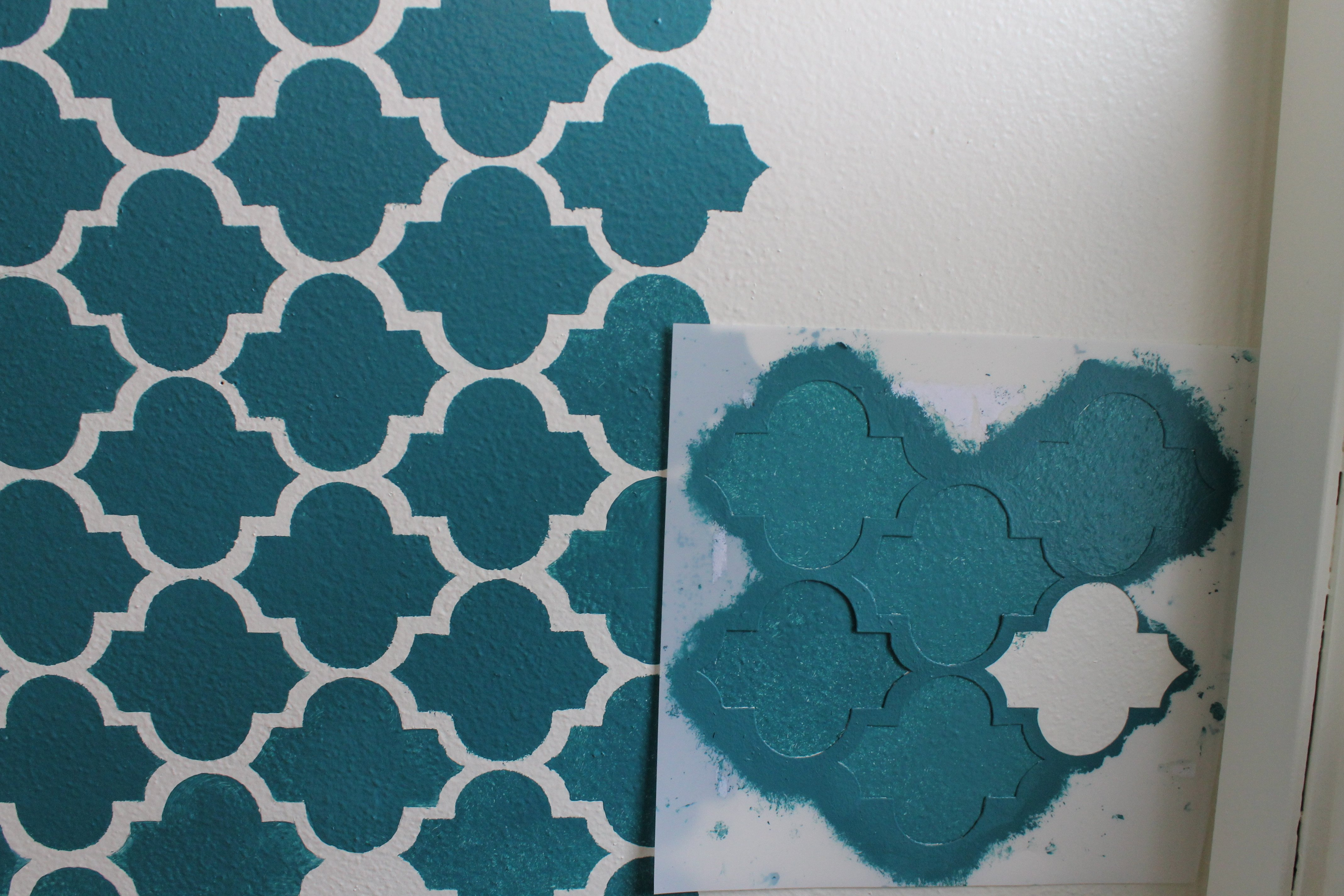 Stencil Templates for Painting Making A Big Impact In A Small Space with Wall Stenciling