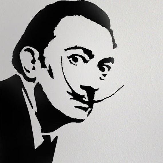 Stencil Templates for Painting Salvador Dali Stencil Home Decor Stencil Art Stencil Paint
