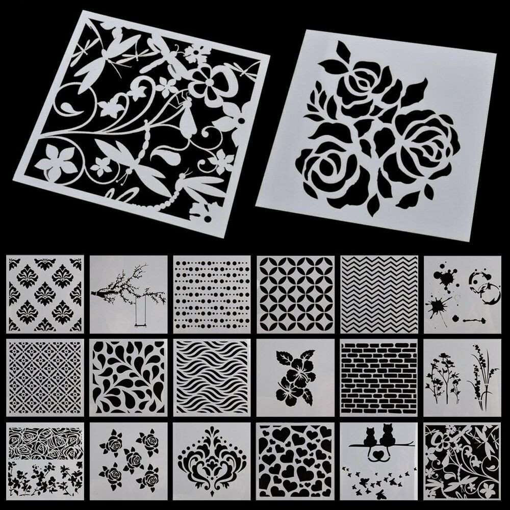 Stencil Templates for Painting Stencil Alphabet Stencils Wall Painting Templates Craft