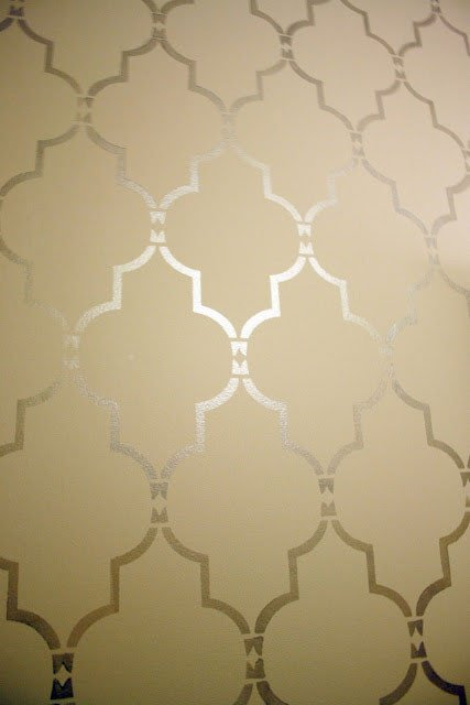 Stencil Templates for Painting Stenciling Tutorial Using Marrakech Trellis Allover Stencil