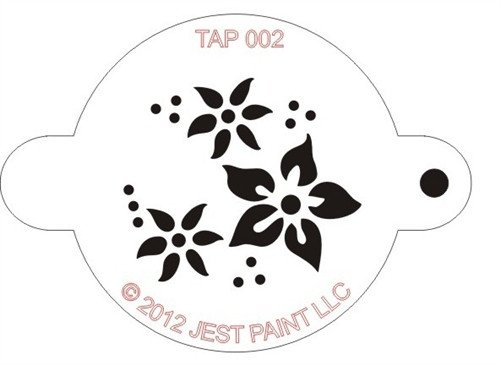 Stencil Templates for Painting Tap 002 Face Painting Stencil – Flowers