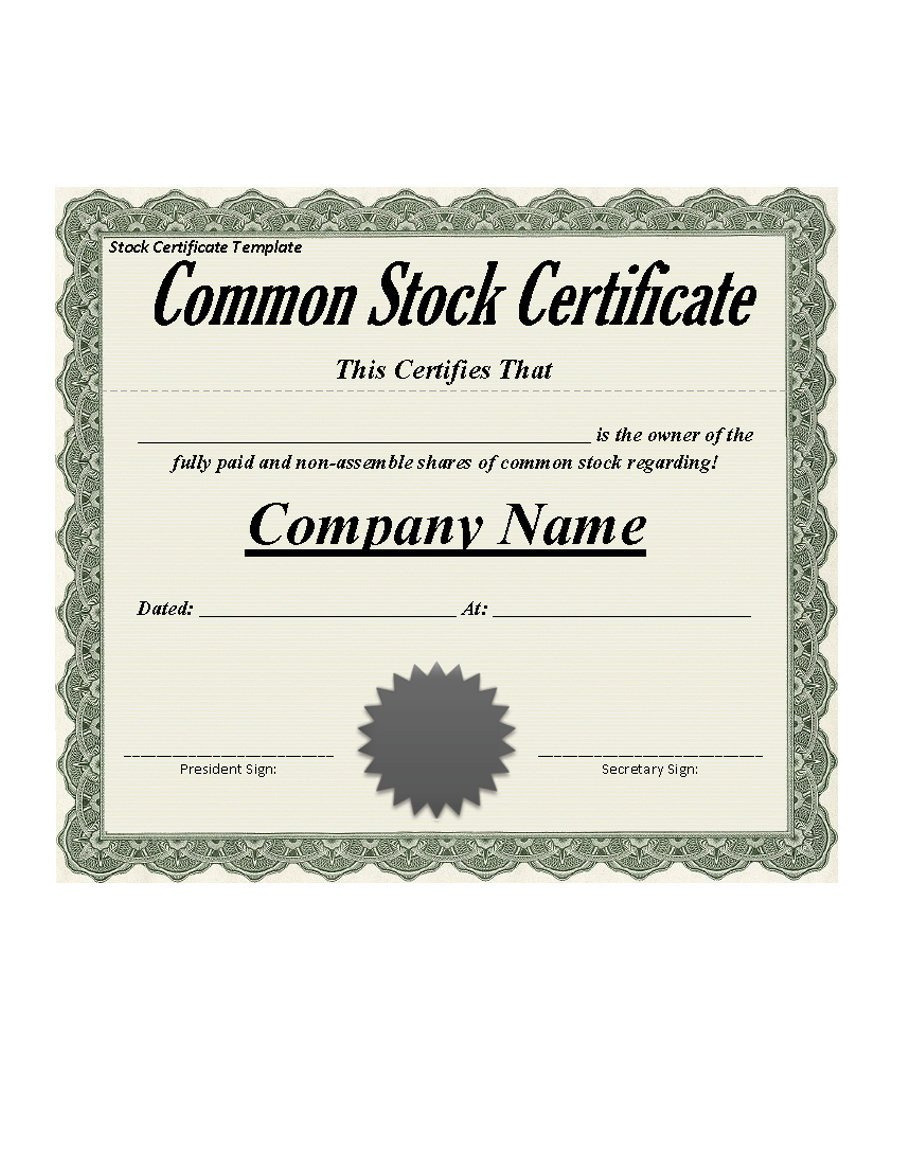 Stock Certificate Template Free 40 Free Stock Certificate Templates Word Pdf