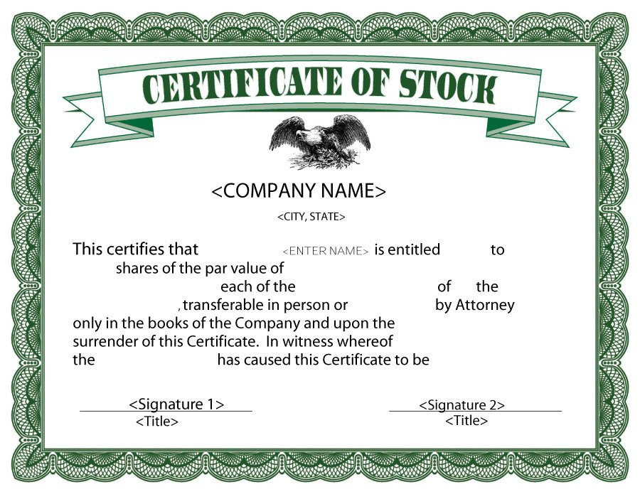Stock Certificate Templates Word 40 Free Stock Certificate Templates Word Pdf