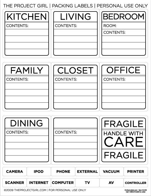 Storage Box Labels Template 78 Free Printable Labels and Beautiful Tags – Tip Junkie