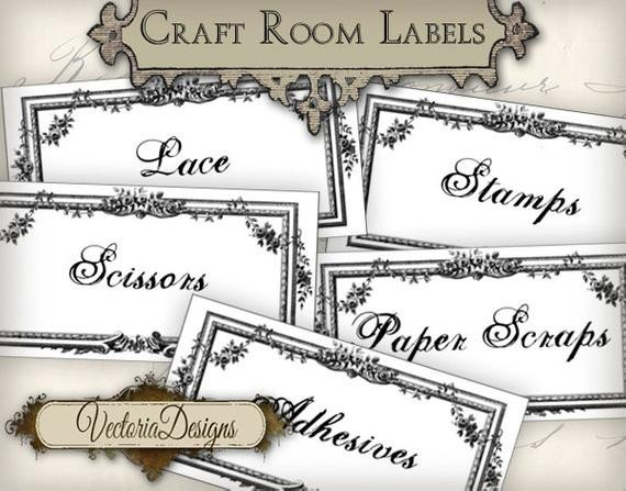 Storage Box Labels Template Craft Room organization Labels Craft Room Labels Printable
