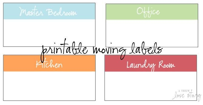Storage Box Labels Template Free Printable Moving Box Labels Color Coded by Room