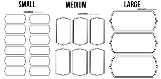 Storage Box Labels Template Labels for Storage Bins Bags and Baskets