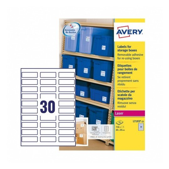 Storage Box Labels Template Storage Box Labels L7190 25