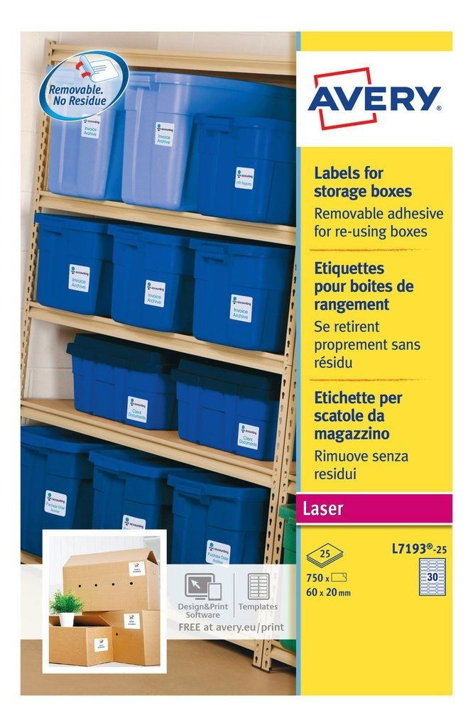Storage Box Labels Template Storage Box Labels L7193 25