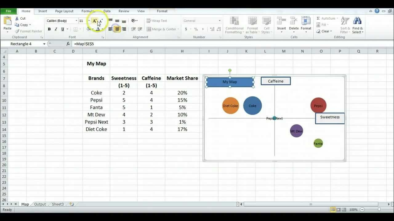Strategic Group Mapping Template How to Make A Perceptual Map Using Excel