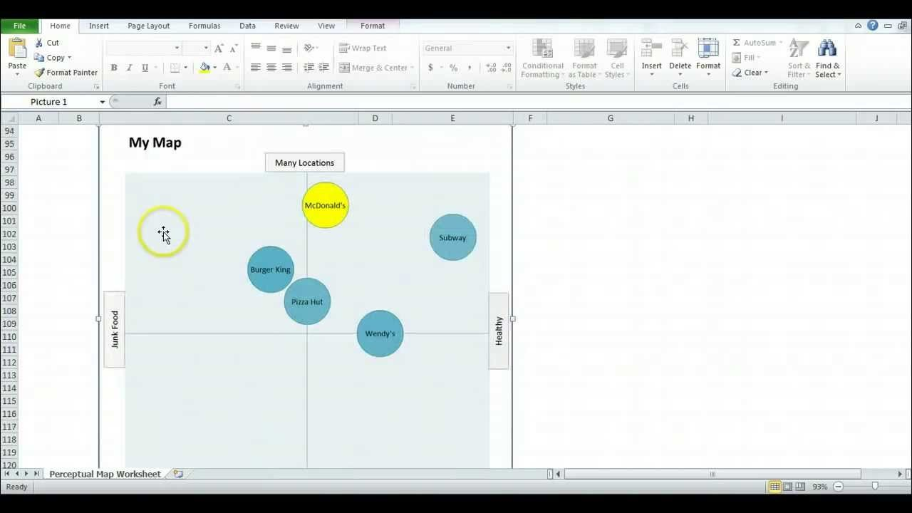 Strategic Group Mapping Template How to Use the Excel Template to Create Perceptual Maps