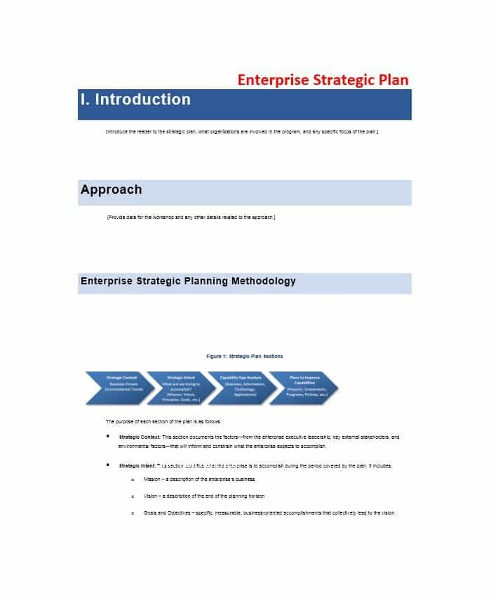 Strategic Plan Templates Free 32 Great Strategic Plan Templates to Grow Your Business