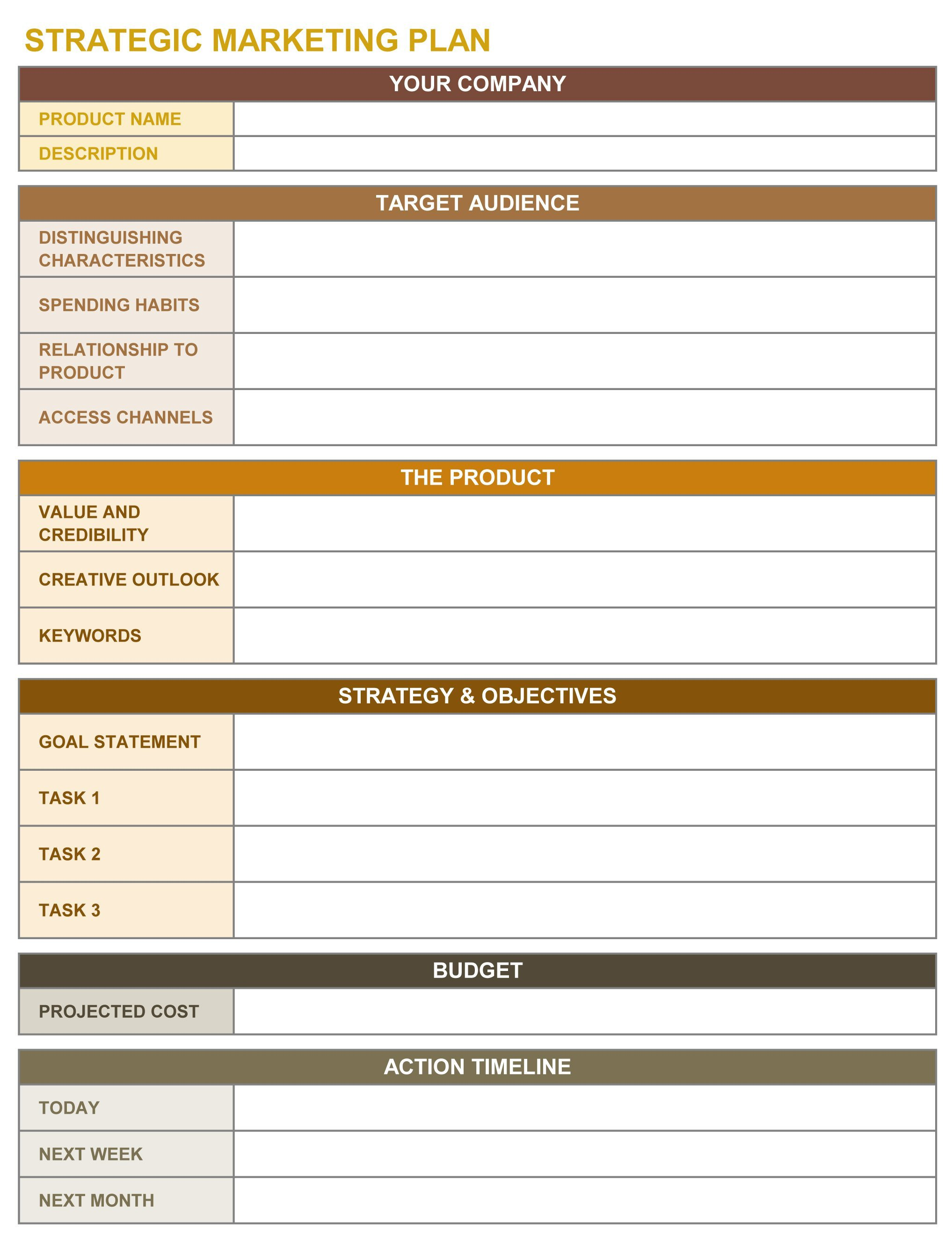 Strategic Plan Templates Free 9 Free Strategic Planning Templates Smartsheet