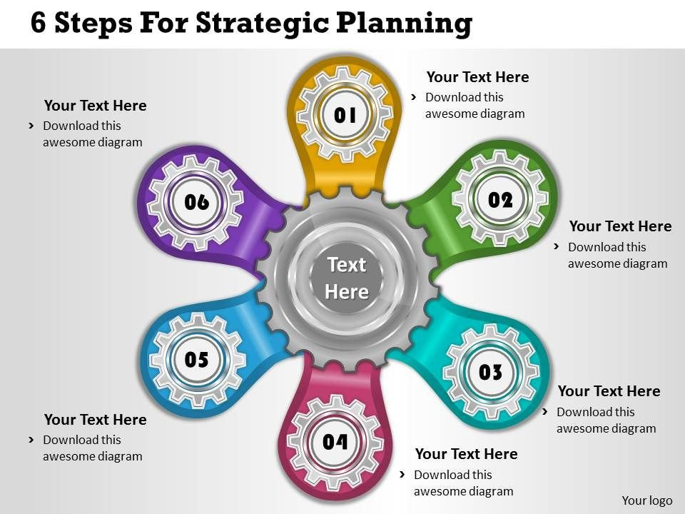 Strategic Planning Template Ppt 1013 Business Ppt Diagram 6 Steps for Strategic Planning