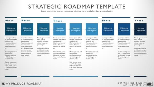 Strategic Planning Template Ppt Nine Phase Business Timeline Roadmapping Presentation Template