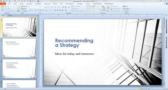 Strategic Planning Template Ppt Strategic Plan Template for Powerpoint 2013