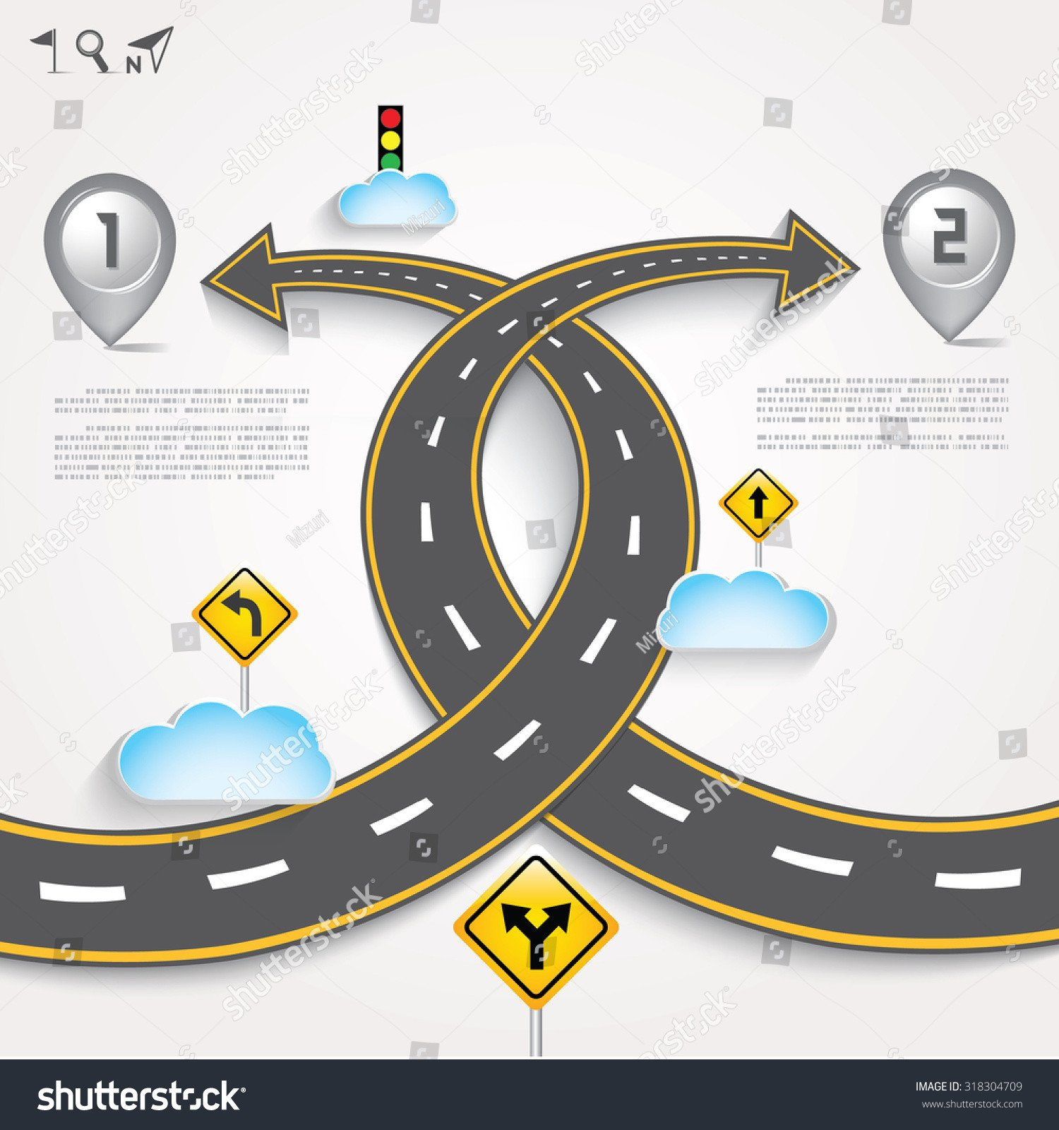 Street Stock Template Design Road & Street Template Background and Map Pointer