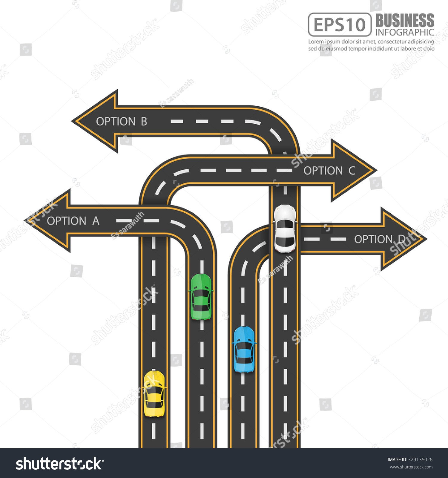 Street Stock Template Road Street Infographic Design Templatevector Illustration