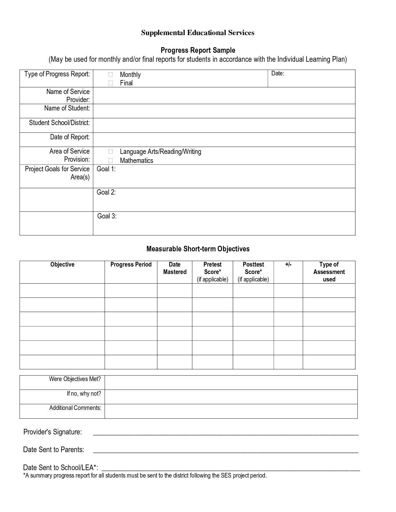 Student Progress Report Template Best S Of Progress Report format Student Progress