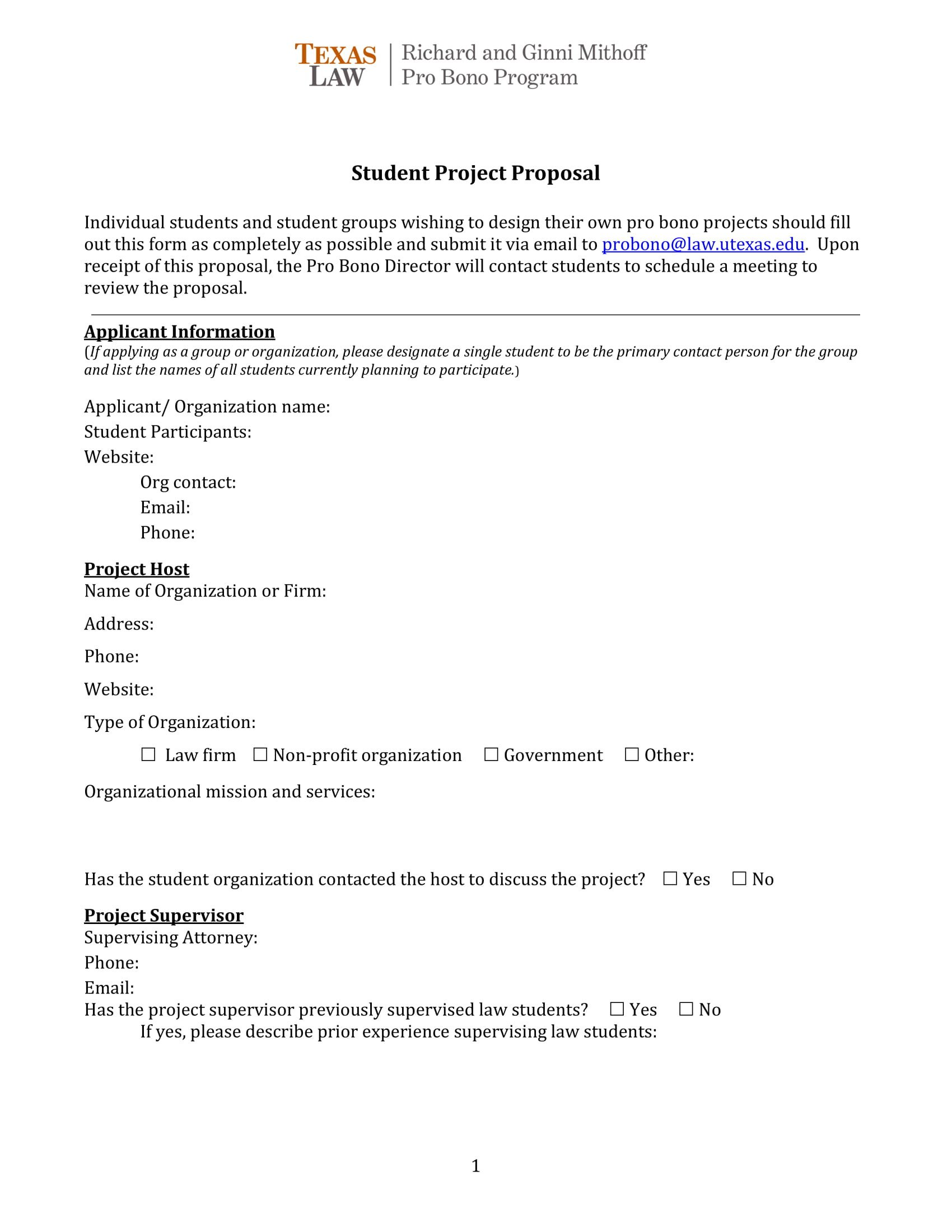 Student Project Proposal Example 11 Student Project Proposal Examples Pdf Word