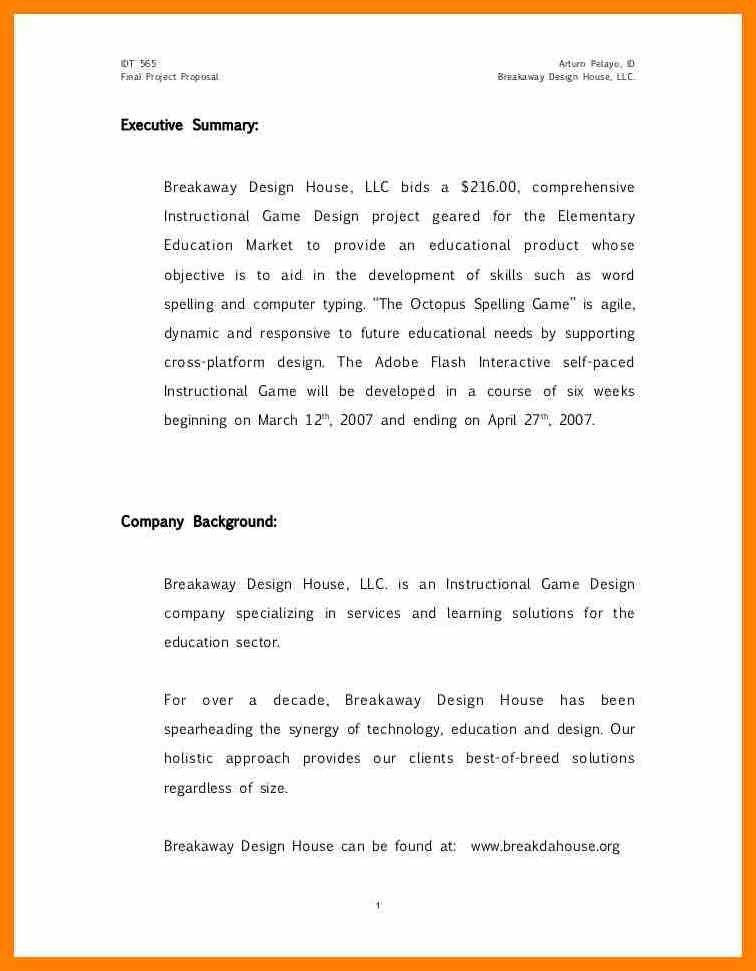 Student Project Proposal Example 15 Student Project Proposal Sample