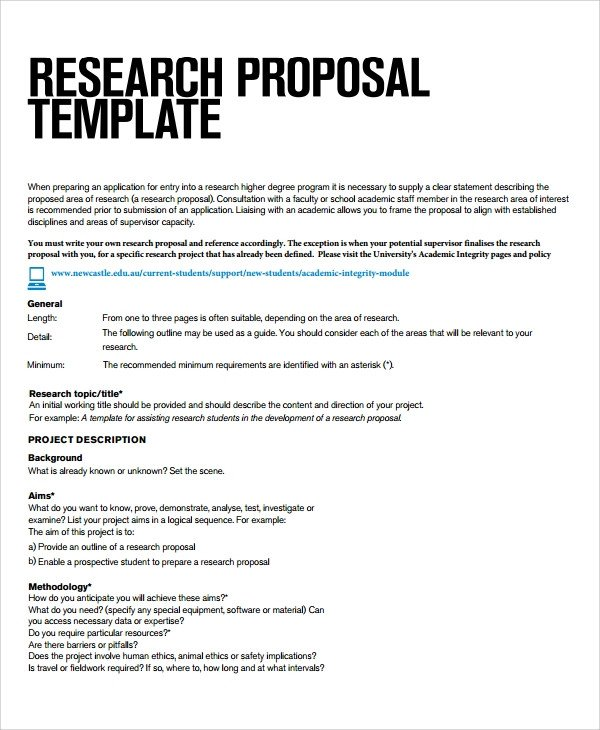 Student Project Proposal Example Sample Research Project Template 7 Free Documents